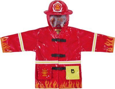 Kidorable Fireman All-Weather Raincoat 4T - Red - Kidorable Women's Apparel