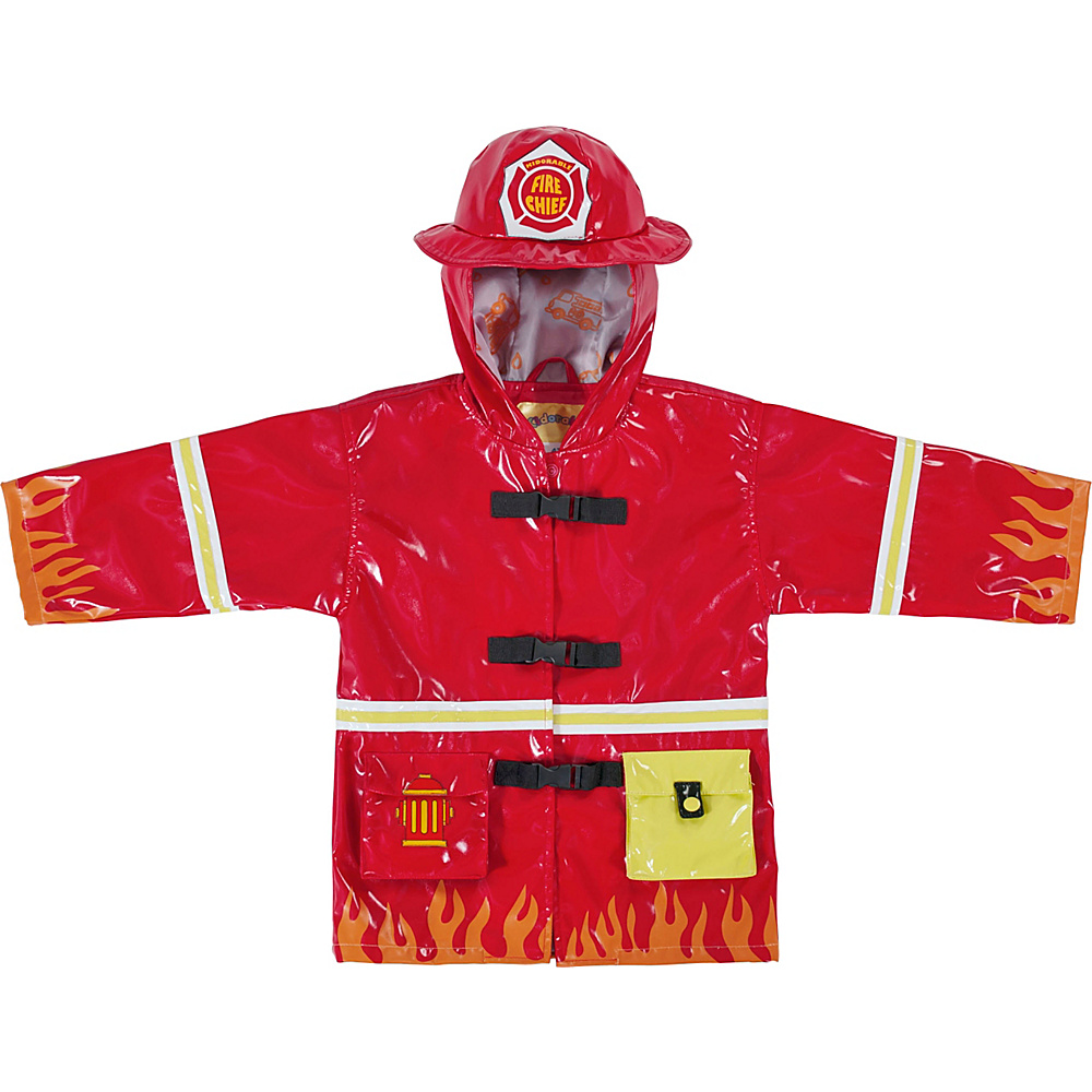 Kidorable Fireman All-Weather Raincoat 4T - Red - Kidorable Womens Apparel - Apparel & Footwear, Women's Apparel