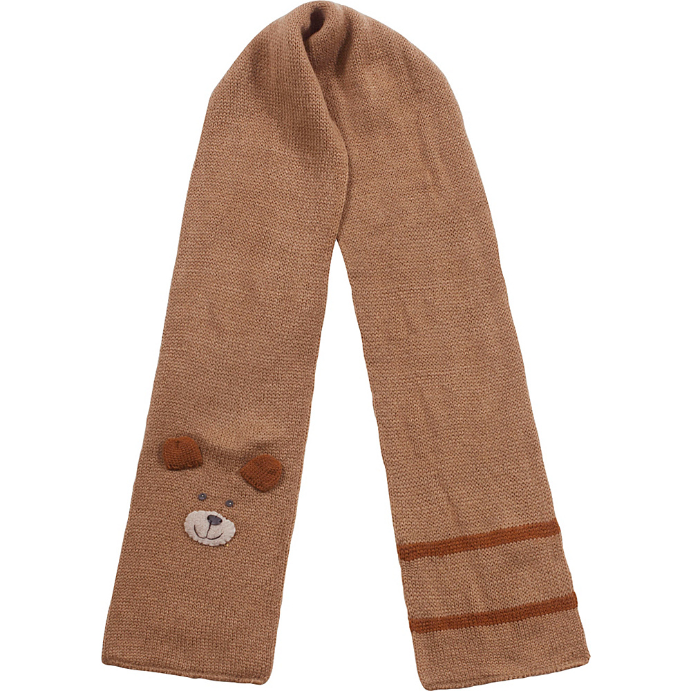 Kidorable Bear Knit Scarf Brown - Kidorable Hats/Gloves/Scarves - Fashion Accessories, Hats/Gloves/Scarves