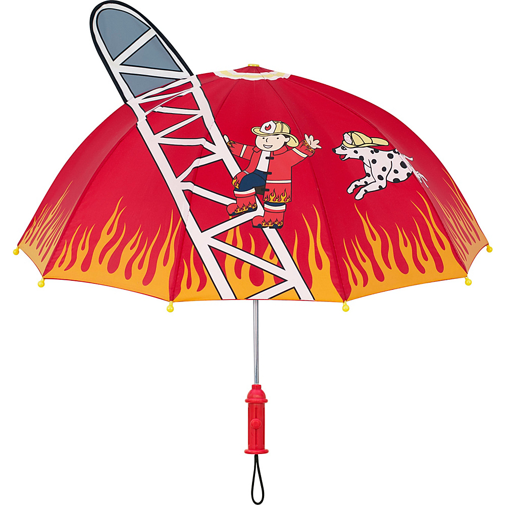 Kidorable Fireman Umbrella Red - One Size - Kidorable Umbrellas and Rain Gear - Fashion Accessories, Umbrellas and Rain Gear