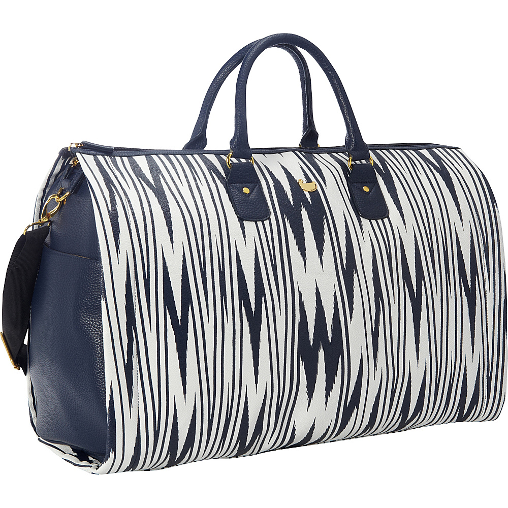 Buxton Chevron Travel Collection Garment Duffle Bag Navy - Buxton Garment Bags - Luggage, Garment Bags