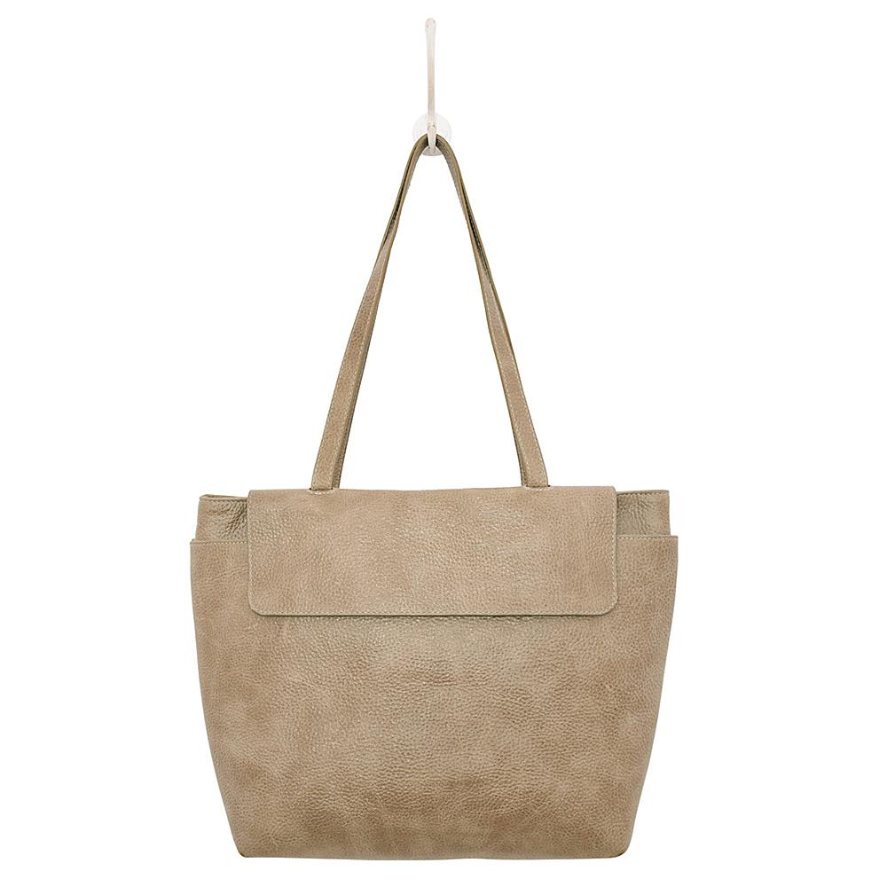 Latico Leathers Ives Tote Pebble Steel - Latico Leathers Leather Handbags - Handbags, Leather Handbags