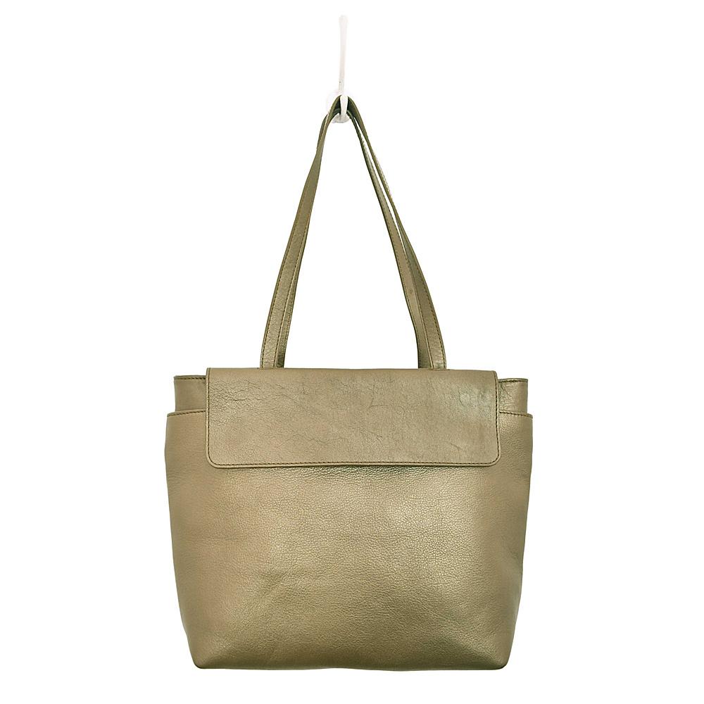 Latico Leathers Ives Tote Metallic Olive - Latico Leathers Leather Handbags - Handbags, Leather Handbags