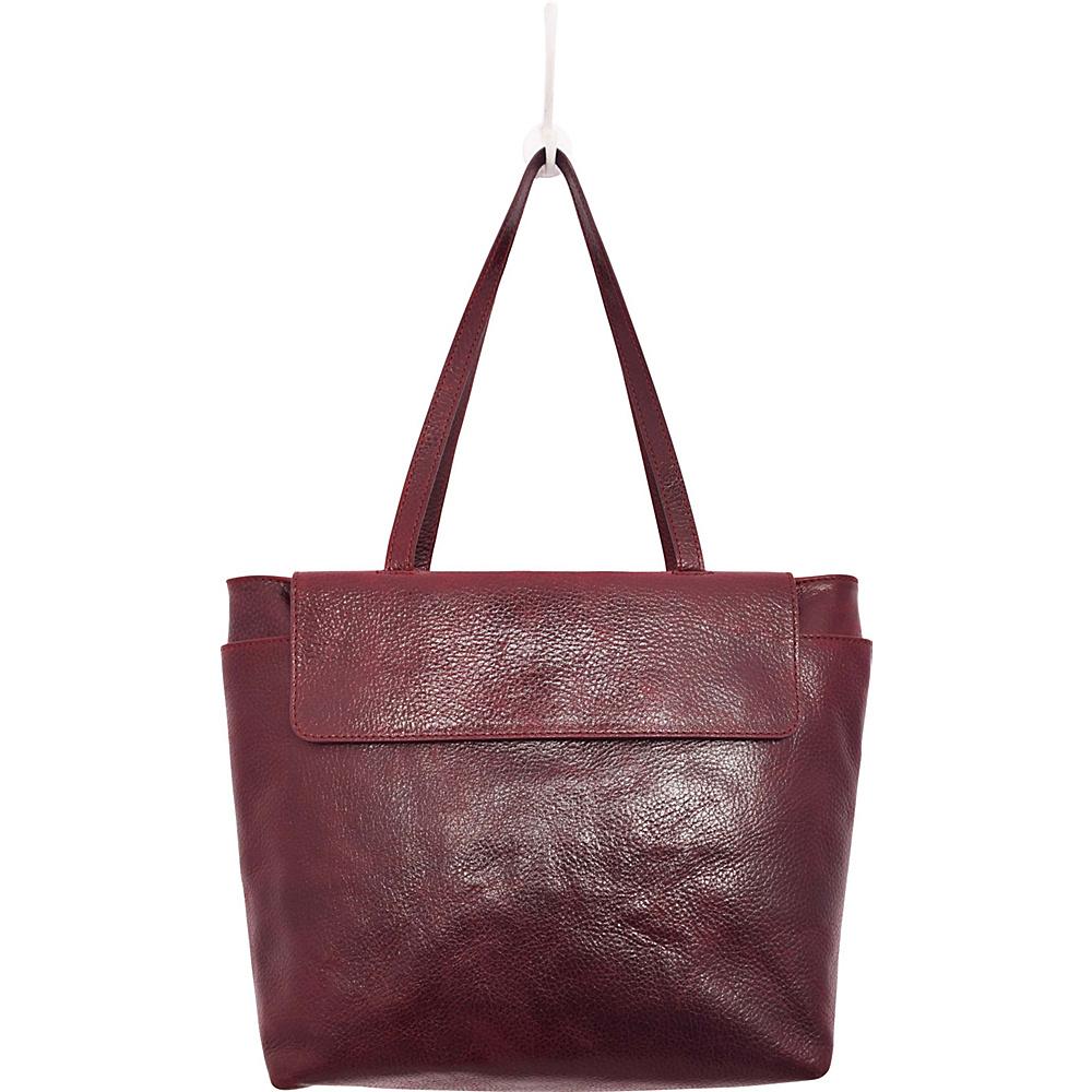 Latico Leathers Ives Tote Pebble Burgundy - Latico Leathers Leather Handbags - Handbags, Leather Handbags