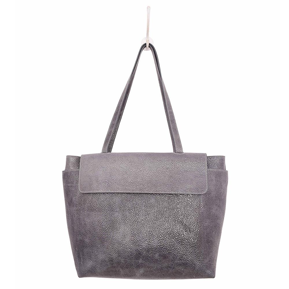 Latico Leathers Ives Tote Pebble Denim - Latico Leathers Leather Handbags - Handbags, Leather Handbags
