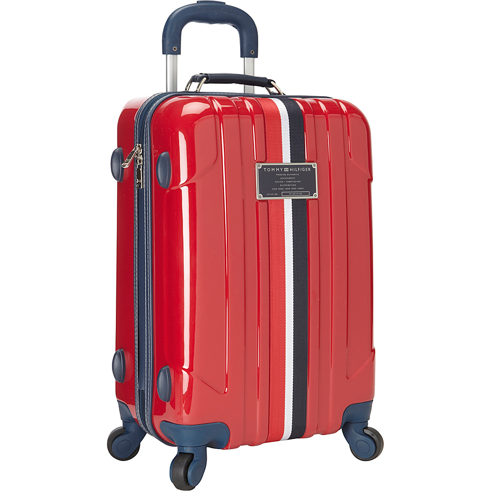 Tommy Hilfiger Luggage Lochwood 21 Hardside Carry On Spinner Red Tommy Hilfiger Luggage Hardside Carry On
