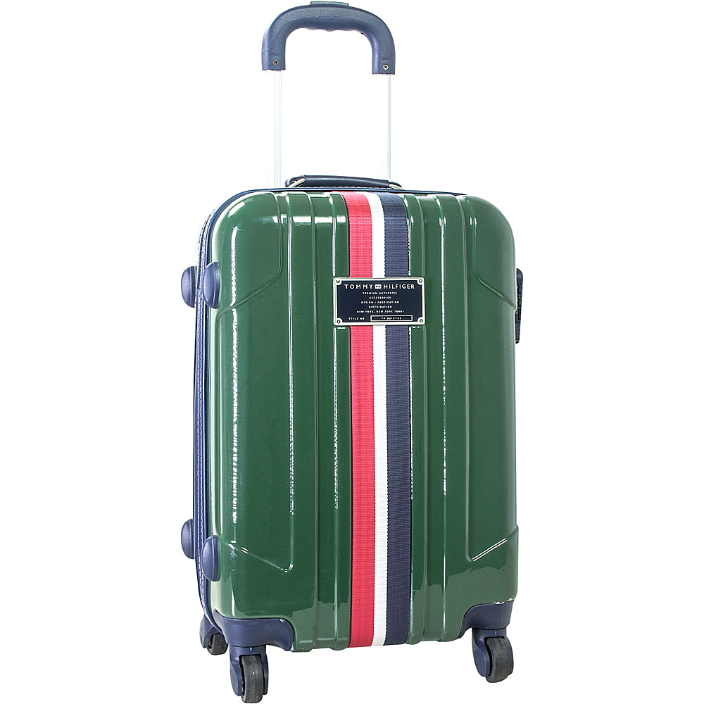 Tommy Hilfiger Luggage Lochwood 21 Hardside Carry On Spinner Olive Tommy Hilfiger Luggage Hardside Carry On