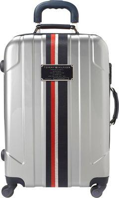 Tommy Hilfiger Luggage Lochwood 21 Hardside Carry-On Spinner Silver - Tommy Hilfiger Luggage Hardside Carry-On