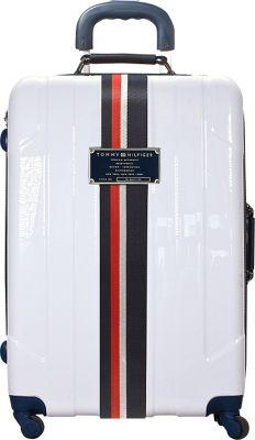 Tommy Hilfiger Luggage Lochwood 21 Hardside Carry-On Spinner White - Tommy Hilfiger Luggage Hardside Carry-On