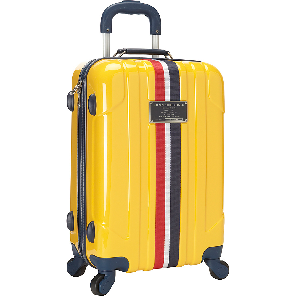 Tommy Hilfiger Luggage Lochwood 21 Hardside Carry On Spinner Yellow Tommy Hilfiger Luggage Hardside Carry On