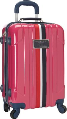 Tommy Hilfiger Luggage Lochwood 21 Hardside Carry-On Spinner Pink - Tommy Hilfiger Luggage Hardside Carry-On