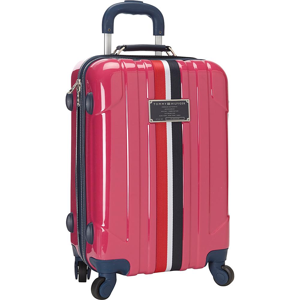 Tommy Hilfiger Luggage Lochwood 21 Hardside Carry On Spinner Pink Tommy Hilfiger Luggage Hardside Carry On