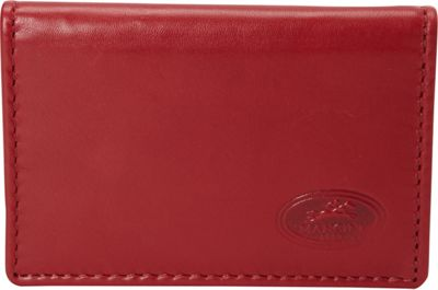 Mancini Leather Goods Expandable RFID Secure Credit Card Case Wallet Red - Mancini Leather Goods Men's Wallets