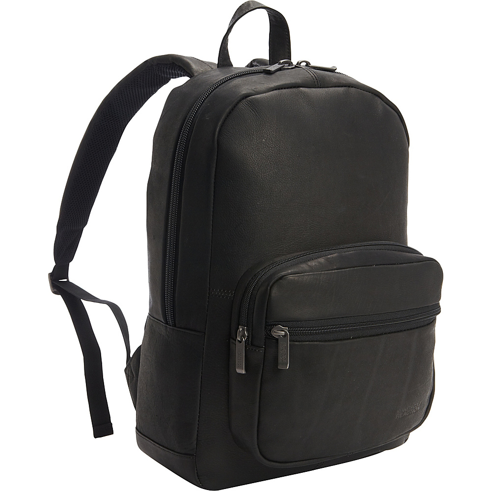 Kenneth Cole Reaction Ahead Of The Pack Leather Backpack Black Kenneth Cole Reaction Business Laptop Backpacks
