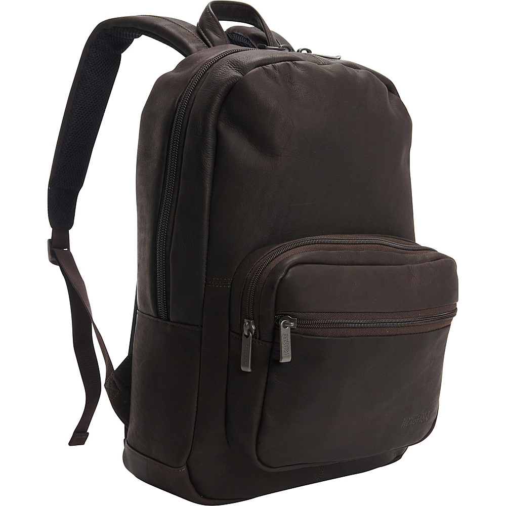 Kenneth Cole Reaction Ahead Of The Pack Leather Backpack Brown Kenneth Cole Reaction Business Laptop Backpacks