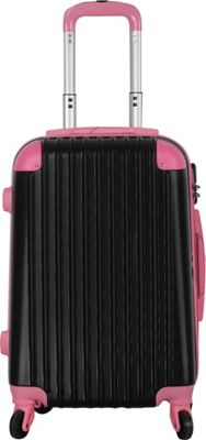 Brio Luggage Hardside Spinner Carry On Luggage #808 Black/Pink - Brio Luggage Hardside Carry-On