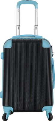 Brio Luggage Hardside Spinner Carry On Luggage #808 Black/Blue - Brio Luggage Hardside Carry-On