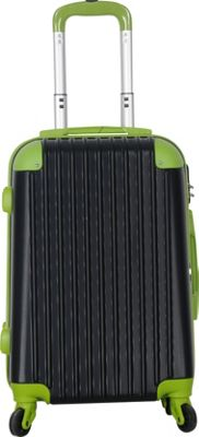 Brio Luggage Brio Luggage Hardside Spinner Carry On Luggage #808 Black/Green - Brio Luggage Hardside Carry-On