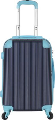 Brio Luggage Hardside Spinner Carry On Luggage #808 Navy/Blue - Brio Luggage Hardside Carry-On