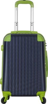 Brio Luggage Hardside Spinner Carry On Luggage #808 Navy/Green - Brio Luggage Hardside Carry-On