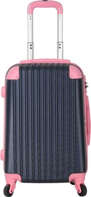 Brio Luggage Hardside Spinner Carry On Luggage #808 Navy/Pink - Brio Luggage Hardside Carry-On