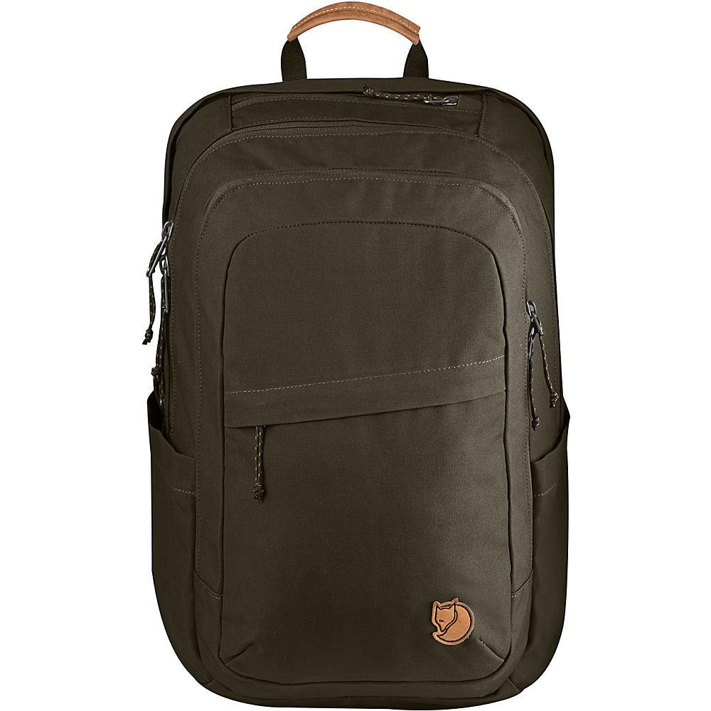 Fjallraven Raven 28L Backpack Dark Olive - Fjallraven Business & Laptop Backpacks - Backpacks, Business & Laptop Backpacks