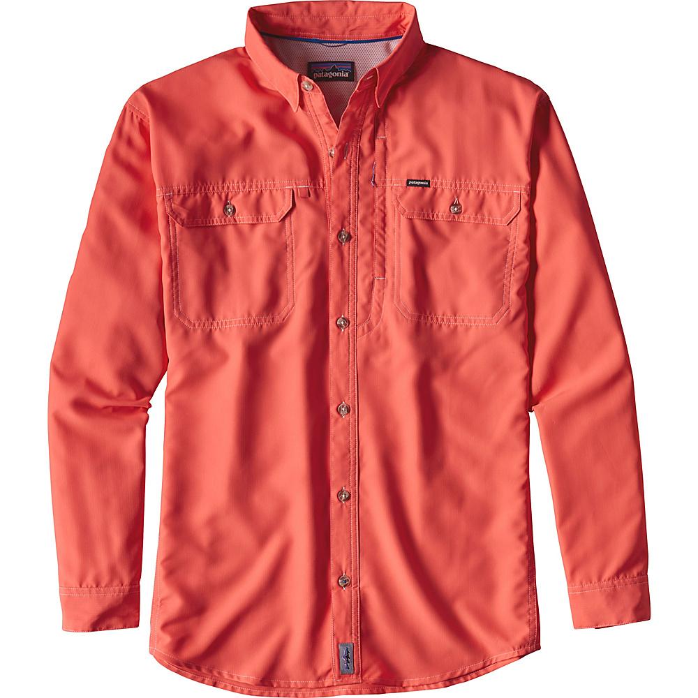 Patagonia Mens Long Sleeve Sol Patrol II Shirt XL - Carve Coral - Patagonia Mens Apparel - Apparel & Footwear, Men's Apparel