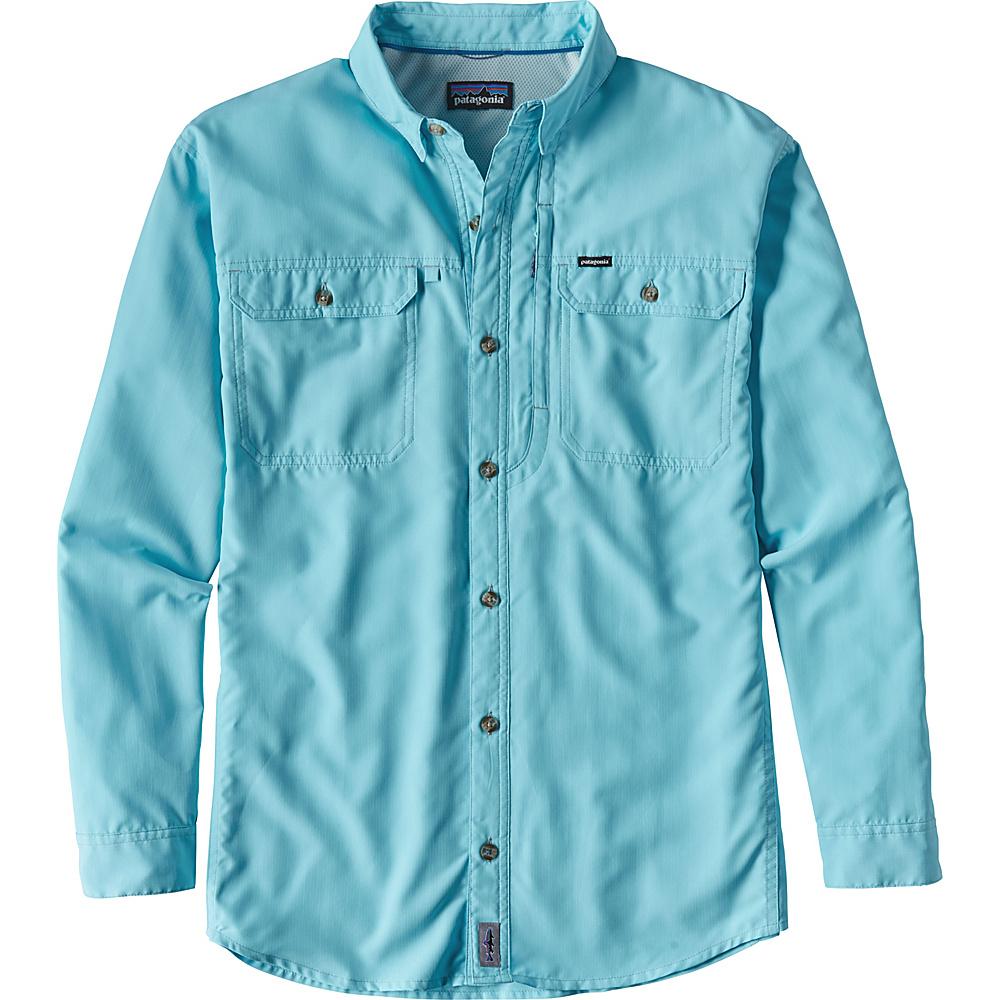 Patagonia Mens Long Sleeve Sol Patrol II Shirt M - Cuban Blue - Patagonia Mens Apparel - Apparel & Footwear, Men's Apparel