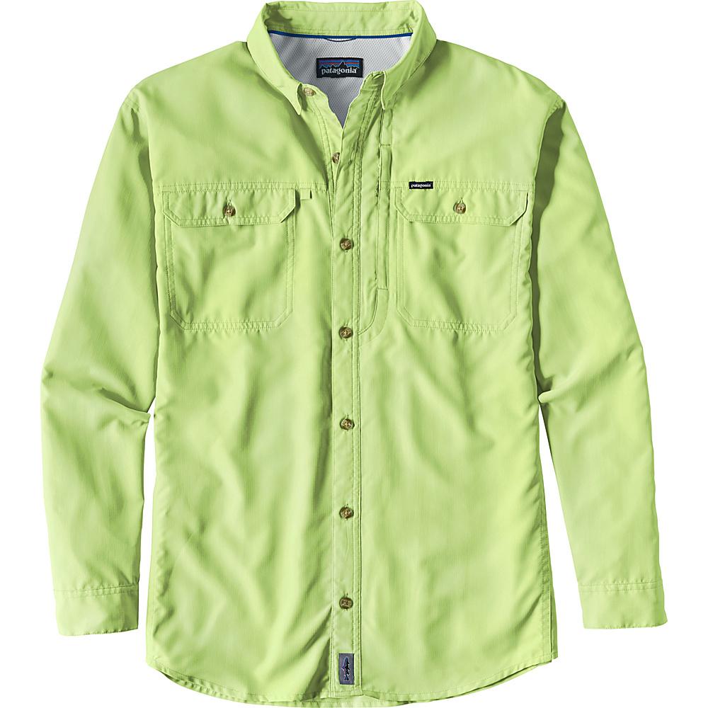 Patagonia Mens Long Sleeve Sol Patrol II Shirt XS - Gill Green - Patagonia Mens Apparel - Apparel & Footwear, Men's Apparel