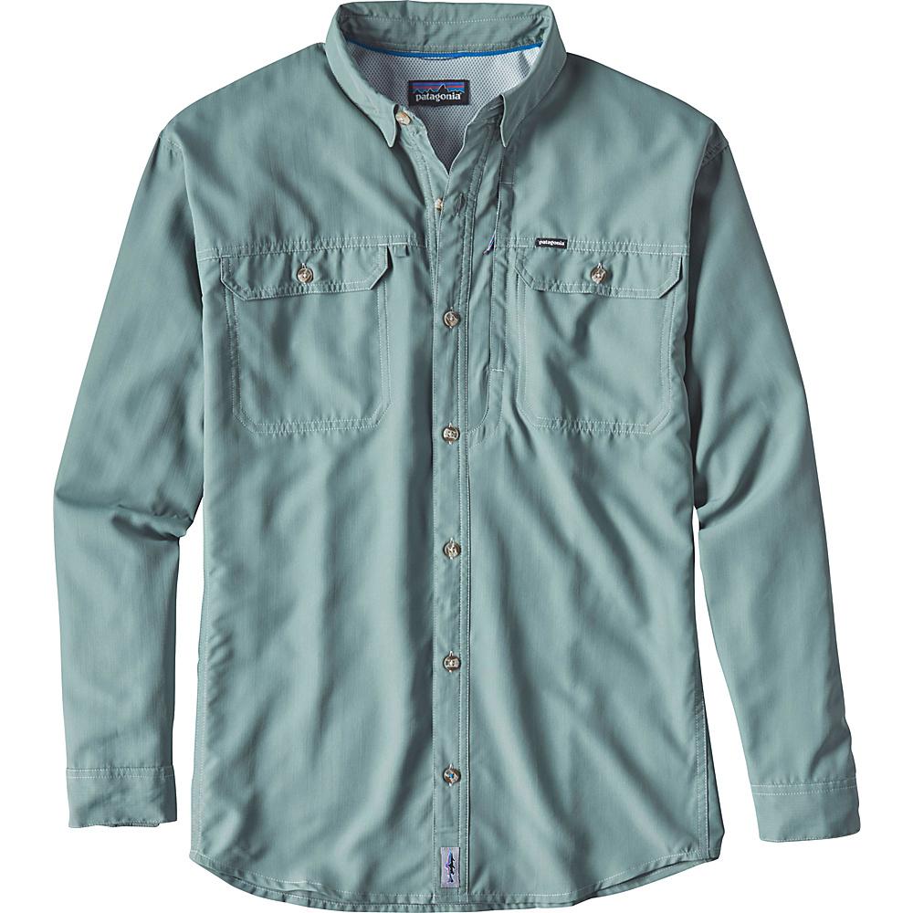 Patagonia Mens Long Sleeve Sol Patrol II Shirt XL - Hemlock Green - Patagonia Mens Apparel - Apparel & Footwear, Men's Apparel