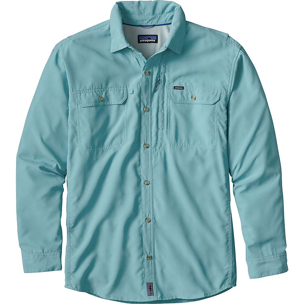 Patagonia Mens Long Sleeve Sol Patrol II Shirt 2XL - Modern Blue - Patagonia Mens Apparel - Apparel & Footwear, Men's Apparel