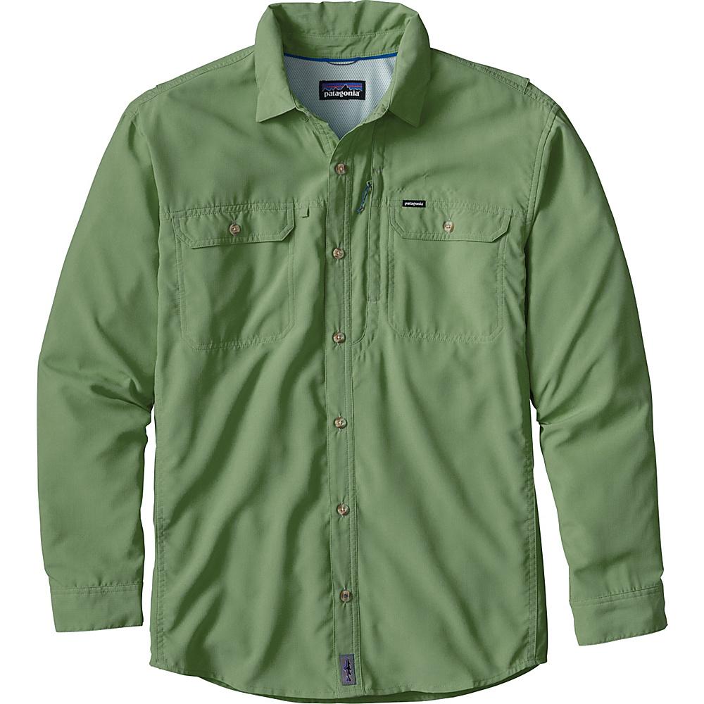 Patagonia Mens Long Sleeve Sol Patrol II Shirt 2XL - Transit Green - Patagonia Mens Apparel - Apparel & Footwear, Men's Apparel