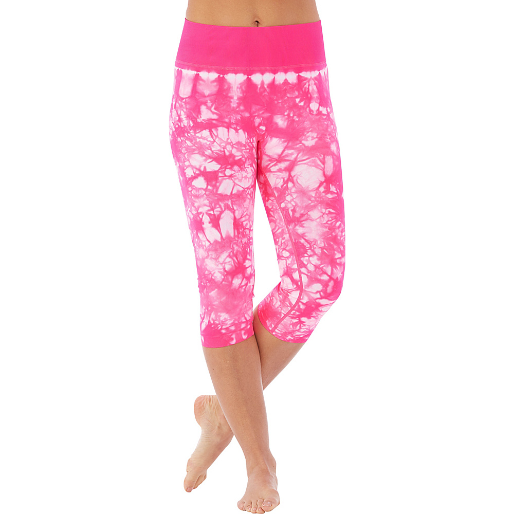 Electric Yoga Tie Dye Capri L Hot Pink Electric Yoga Women s Apparel