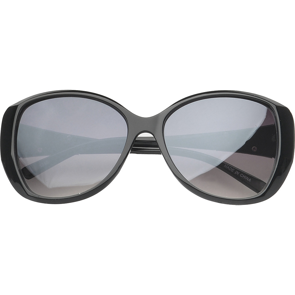 SW Global Eyewear Fayetteville Butterfly Fashion Sunglasses Black Silver - SW Global Sunglasses - Fashion Accessories, Sunglasses