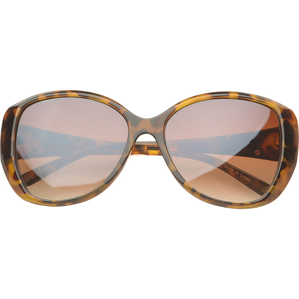 SW Global Eyewear Fayetteville Butterfly Fashion Sunglasses Brown Gold - SW Global Sunglasses - Fashion Accessories, Sunglasses