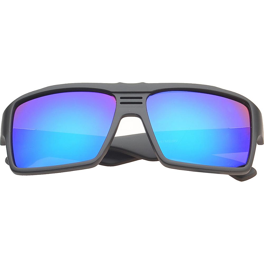 SW Global Eyewear Costa Rectangle Fashion Sunglasses Green Purple - SW Global Sunglasses - Fashion Accessories, Sunglasses