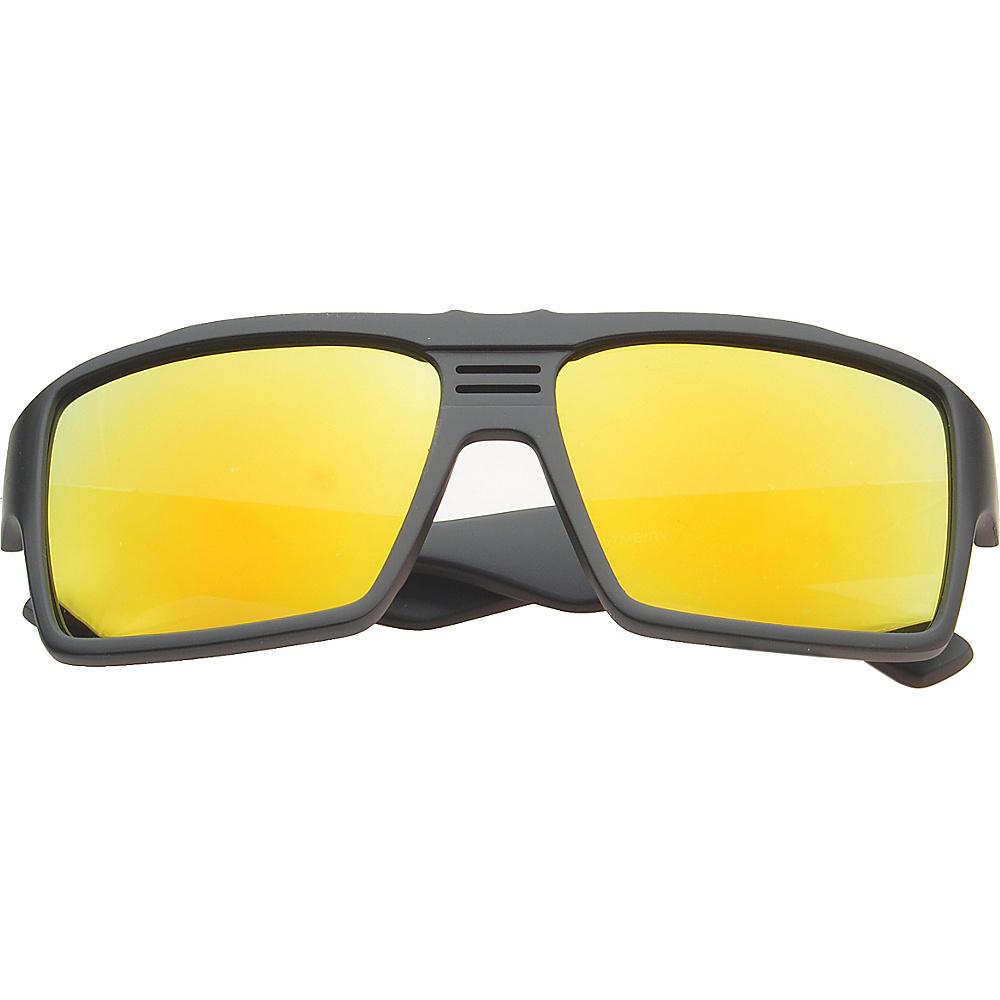 SW Global Eyewear Costa Rectangle Fashion Sunglasses Orange - SW Global Sunglasses - Fashion Accessories, Sunglasses
