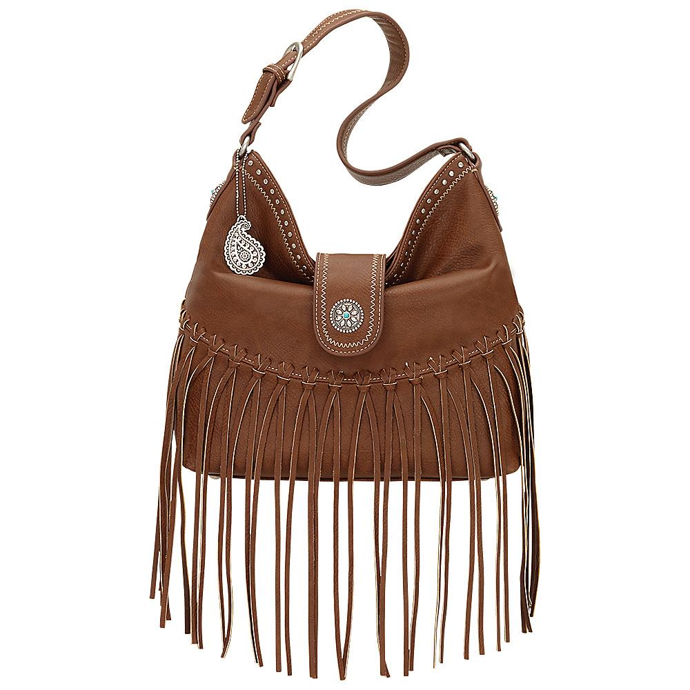 Bandana Rio Rancho Hobo Shoulder Bag Brown Bandana Manmade Handbags