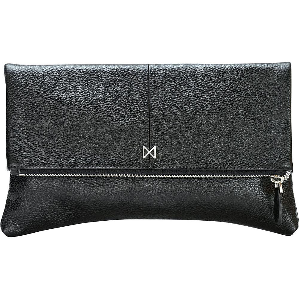 MOFE Esoteric Pebble Leather Clutch Black MOFE Leather Handbags