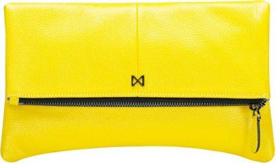 MOFE Esoteric Pebble Leather Clutch Yellow - MOFE Leather Handbags
