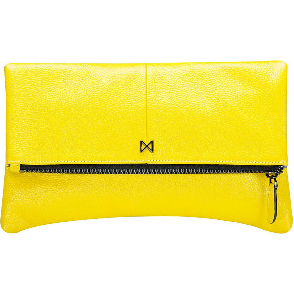 MOFE Esoteric Pebble Leather Clutch Yellow MOFE Leather Handbags