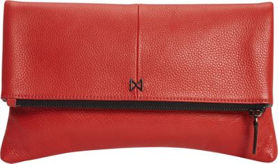 MOFE Esoteric Pebble Leather Clutch Tomato - MOFE Leather Handbags
