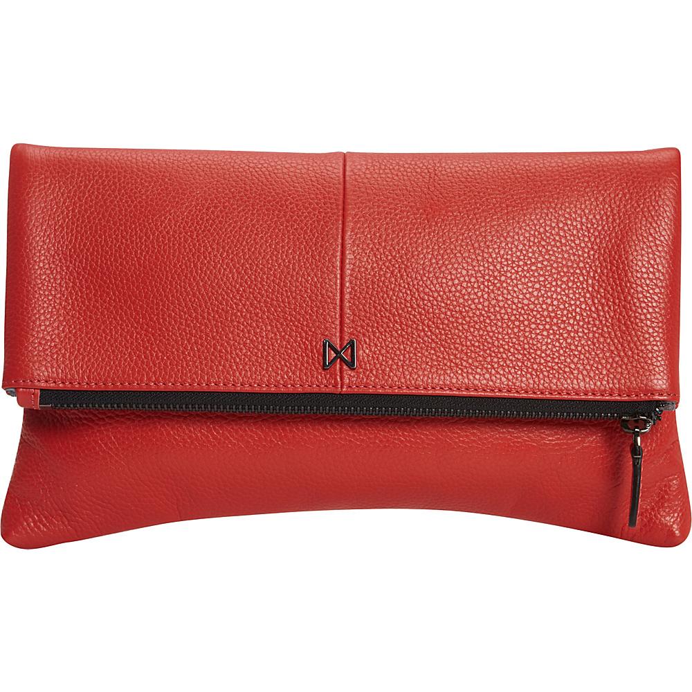MOFE Esoteric Pebble Leather Clutch Tomato MOFE Leather Handbags