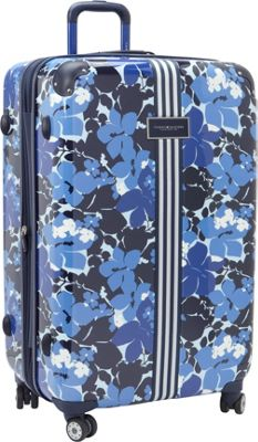 Tommy Hilfiger Luggage Floral 28 Upright Exp. Hardside Spinner Blue - Tommy Hilfiger Luggage Hardside Checked
