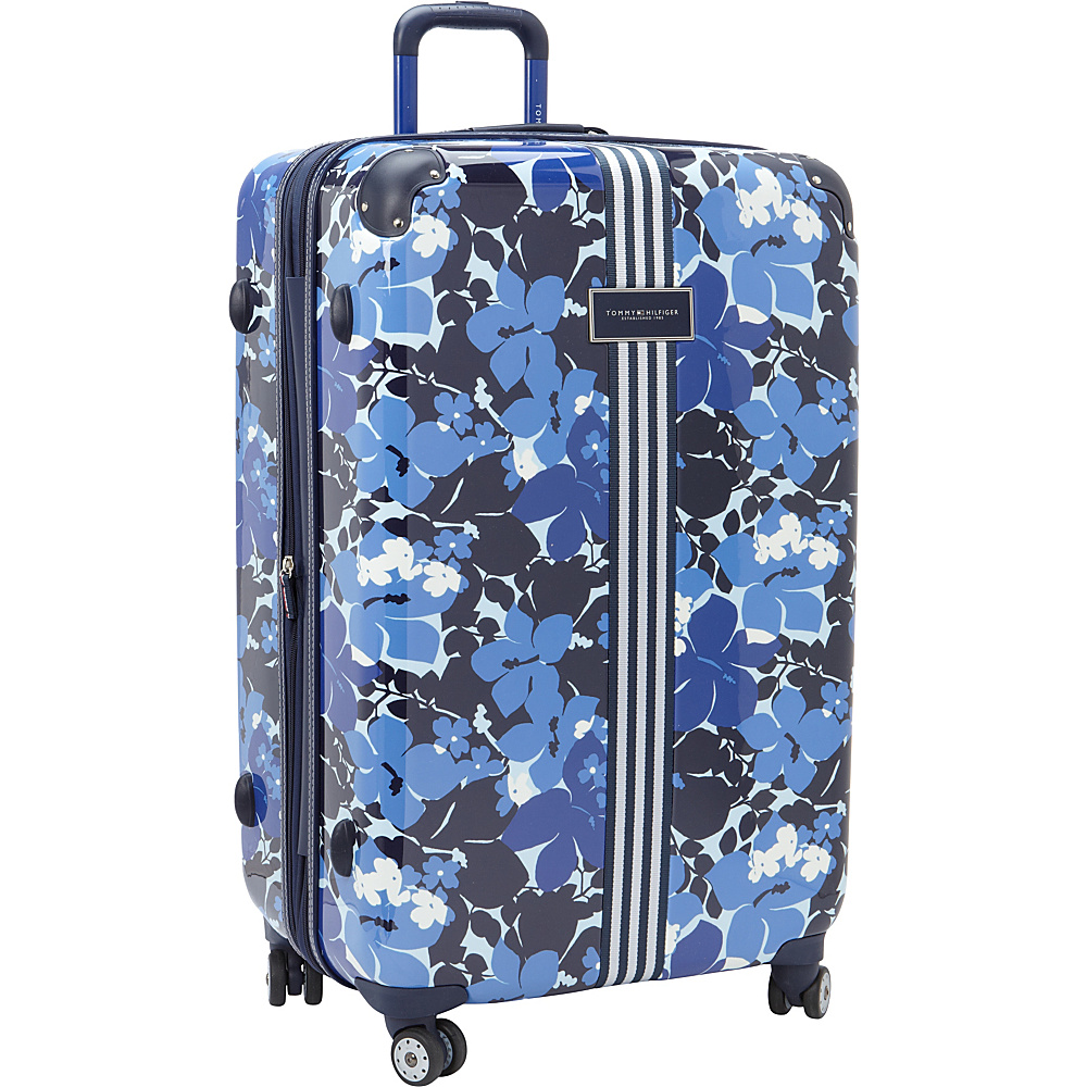 Tommy Hilfiger Luggage Floral 28 Upright Exp. Hardside Spinner Blue Tommy Hilfiger Luggage Hardside Checked