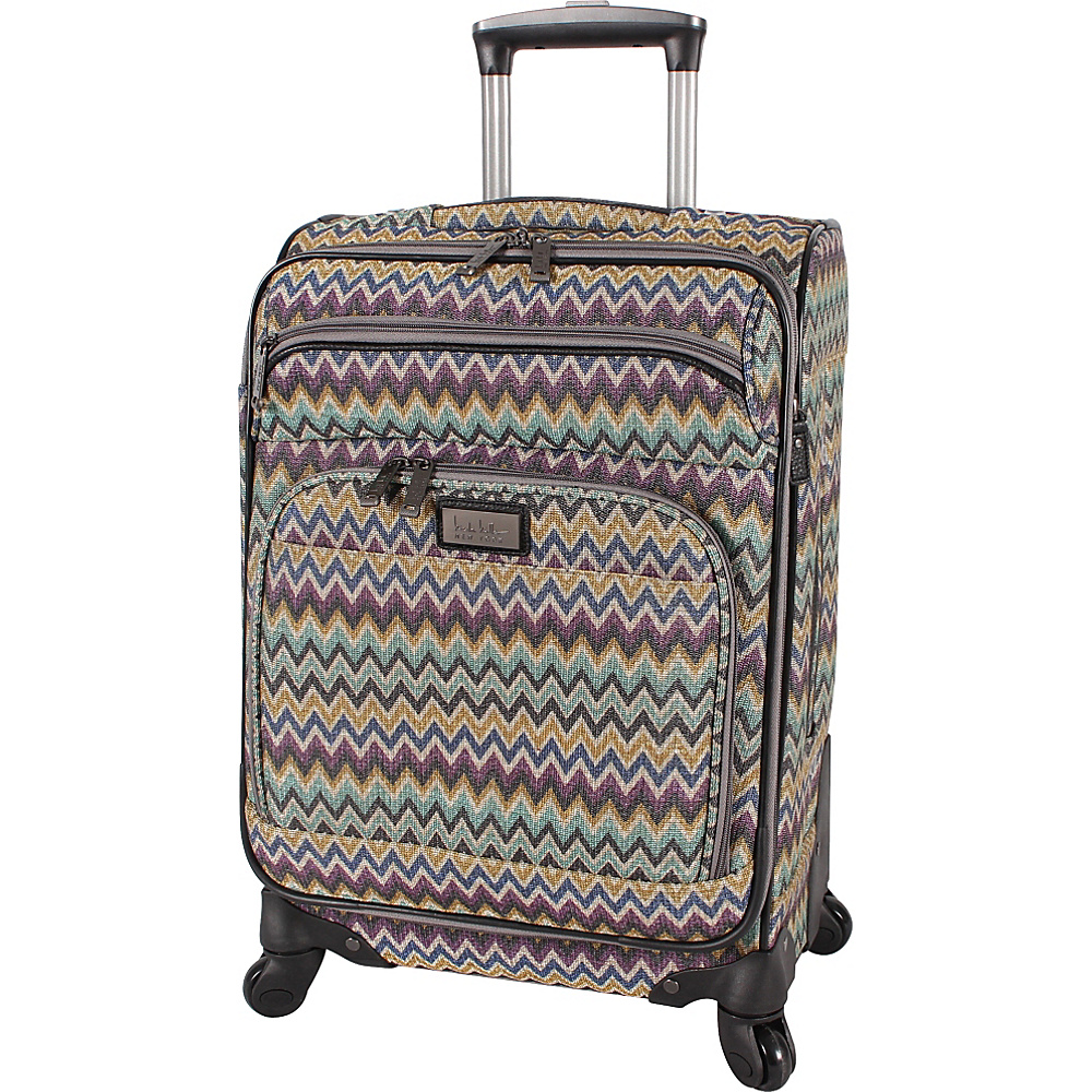 """Nicole Miller NY Luggage Sally 20"""" Exp Spinner Teal - Nicole Miller NY Luggage Small Rolling Luggage"""