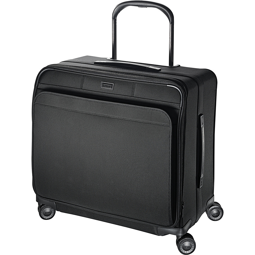 Hartmann Luggage Ratio Long Journey Expandable Glider True Black Hartmann Luggage Softside Checked