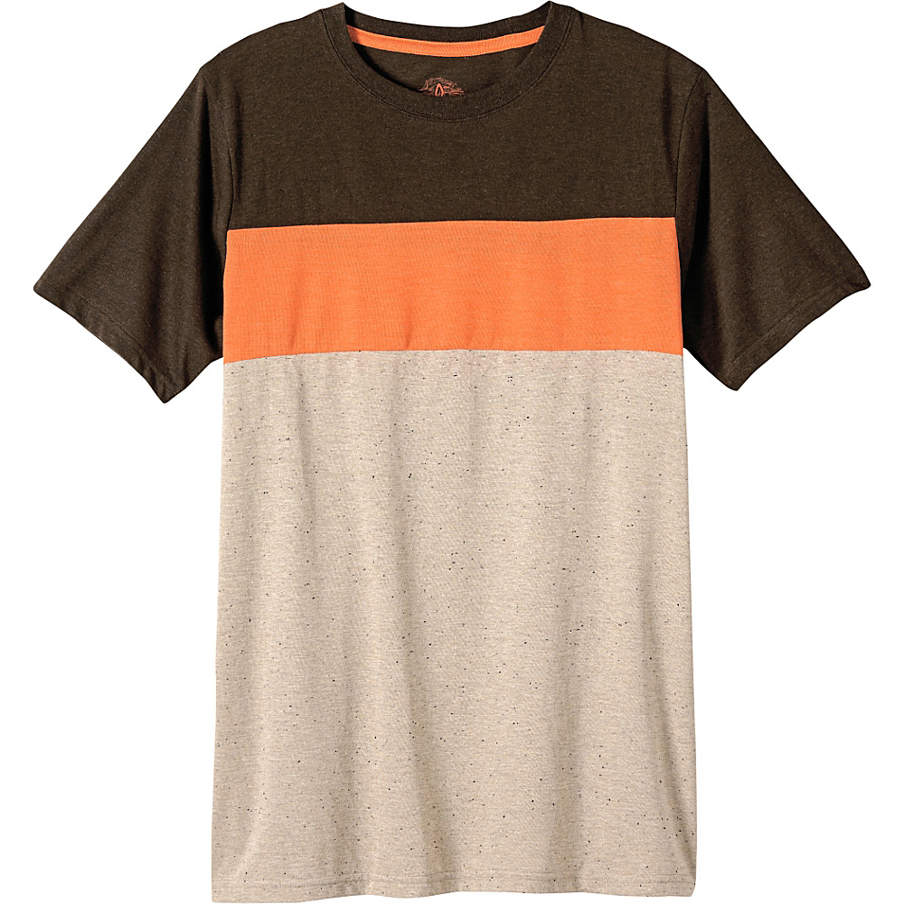 PrAna Jax Crew Shirt M - Mud - PrAna Mens Apparel - Apparel & Footwear, Men's Apparel