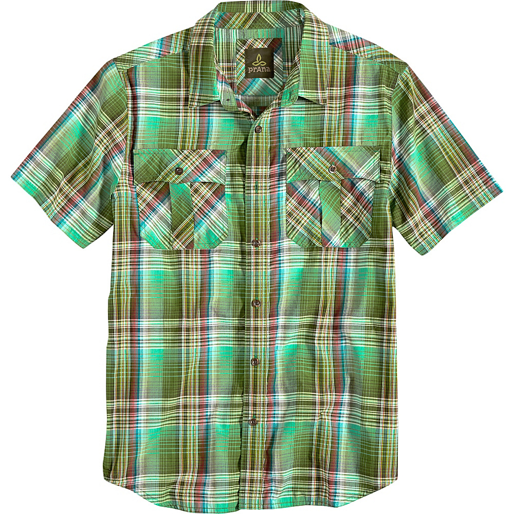 PrAna Ostend Shirt M - Green Smoke - PrAna Mens Apparel - Apparel & Footwear, Men's Apparel