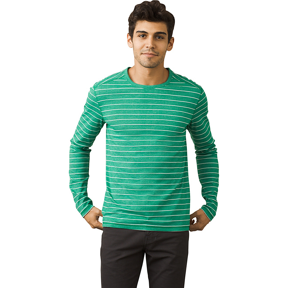 PrAna Keller Long Sleeve Crew Shirt M - Spruce - PrAna Mens Apparel - Apparel & Footwear, Men's Apparel